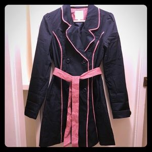 ModCloth Trench Coat in Navy Size S